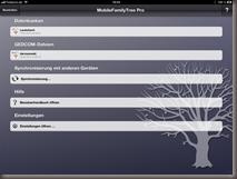 Der Gedcom Import bei MobileFamilyTree Pro